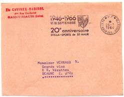 VAL De MARNE - Dépt N° 94 St MAUR Des FOSSES 1966 = FLAMME PP Codée = SECAP Illustrée ARMOIRIES ' STELLA 1946 ' - Marcofilia (sobres)