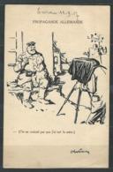 """LZ-/-091--   CPA D'HUMOUR NOIR ALLEMAND OBL. """"de La POUDRERIE De SEVRAN """" 1917 - Wars"""