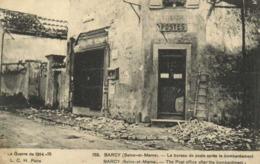 Militaria La Guerre De 1914 15 BARCY (Seine Et Marne) Le Bureau De Poste Après Le Bombardement RV - Francia