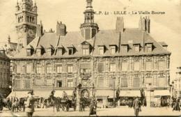 Cpa 59 Lille La Vieille Bourse Animée - Lille