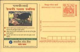 SBI Dairy Plus Scheme, Cow, Loan, Finance, India Advertisement Postal Stationary As Scan - Farm