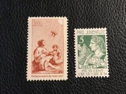 Schweiz Pro Juventute 1912/13 Zumstein-Nr. Vorläufer I Und Nr. 1 ** Postfrisch - Pro Juventute