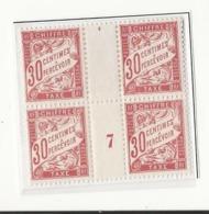 Taxe N°33 : 2 Paires Dont Millésime 7 - Neufs (1927) - Taxes