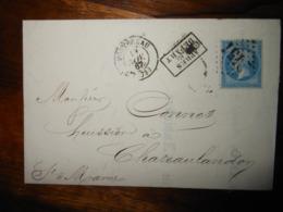 Lettre GC 2451 Montereau Seine Et Marne Avec Correspondance - 1849-1876: Période Classique