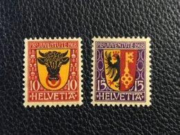Schweiz Pro Juventute 1918 Zumstein-Nr. 10-11 * Ungebraucht Mit Falz - Pro Juventute
