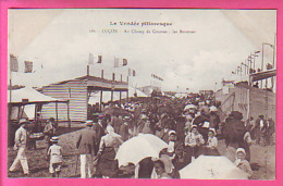 LUCON AU CHAMP DE COURSES LES BUVETTES  BELLE  ANIMATION CP NEUVE - Lucon