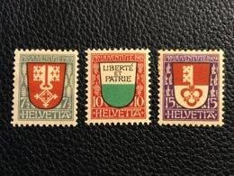 Schweiz Pro Juventute 1919 Zumstein-Nr. 12-14 * Ungebraucht Mit Falz - Pro Juventute