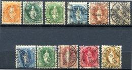 Suisse - 1882 -> 1904 - Série Incomplète Oblitérée - Yt 71 - 72 - 72a - 73 - 74 - 75 - 76 - 77 - 78 - 79 - 80 - Gebruikt