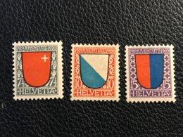 Schweiz Pro Juventute 1920 Zumstein-Nr. 15-17 * Ungebraucht Mit Falz - Pro Juventute