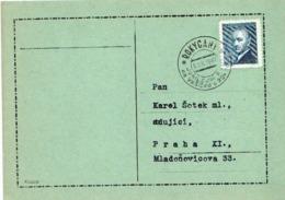 Czechoslovakia Card With Rokycani Cancel - Czechoslovakia