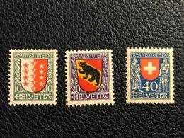 Schweiz Pro Juventute 1921 Zumstein-Nr. 18-20 * Ungebraucht Mit Falz - Pro Juventute
