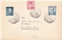 Czechoslovakia Card With Stakonice Cancel - Czechoslovakia