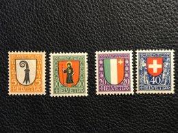 Schweiz Pro Juventute 1923 Zumstein-Nr. 25-28 * Ungebraucht Mit Falz - Pro Juventute