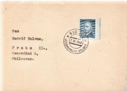 Czechoslovakia Card With Hudlice Cancel - Czechoslovakia