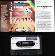 Videogioco-Sinclair ZX Spectrum 48K (backgammon) Vintage Cassetta G22/S-vedi Foto - Other