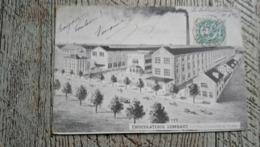 Chocolaterie Lombart Vue D'ensemble De L'usine Carte Publicitaire 1906 - Pubblicitari