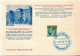 Czechoslovakia Card With Turciansky Svaty Martin Cancel And 2 More Items For Jamerino - Briefe U. Dokumente