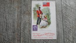 La Poste à Trinidad Grands Magasins De La Ville De Saint Denis Paris  Carte Publicitaire  Cuba Précurseur Facteur - Werbepostkarten