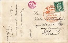 Czechoslovakia Card With Nachod Autoposta Cancel And Zamek Nachod Photo - Cecoslovacchia