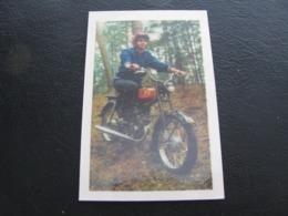USSR Soviet Russia Pocket Calendar Motorcycle Girl Bike 1977 - Calendars