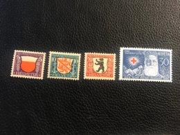 Schweiz Pro Juventute 1928 Zumstein-Nr. 45-48 * Ungebraucht Mit Falz - Pro Juventute