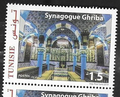 TUNISIA,  2019, MNH,SYNAGOGUES, GHRIBA SYNAGOGUE,  1v - Moskeeën En Synagogen