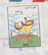 Irak Iraq Air Mail  (Aeroplane Cachet) AL-NAJAF 1899 Cover Brief LUCERNE Schweiz ERROR Variety Misplaced Print !! - Irak