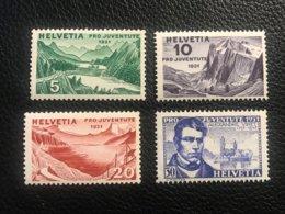 Schweiz Pro Juventute 1931 Zumstein-Nr. 57-60 * Ungebraucht Mit Falz - Pro Juventute