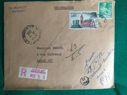 FRANCE LETTRE RECOMMANDÉE POUR PARIS 1962 - Marcofilie (Brieven)