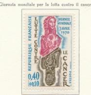 PIA  - FRA - 1970 : Giornata Mondiale Per La Lotta Contro Il Cancro   - (Yv  1636) - Disease