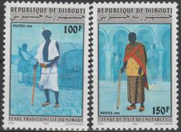 Djibouti Dschibuti 1994 Mi. 602 - 603 Tenue Traditionnelle Nomade / Ville Des Notables Kleidung Clothing - Djibouti (1977-...)