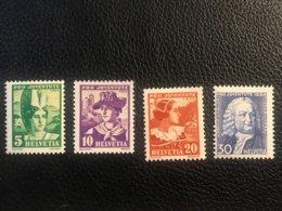 Schweiz Pro Juventute 1934 Zumstein-Nr. 69-72 * Ungebraucht Mit Falz - Pro Juventute