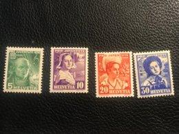 Schweiz Pro Juventute 1936 Zumstein-Nr. 77-80 * Ungebraucht Mit Falz - Pro Juventute