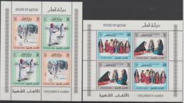State Of Qatar Katar 1993 Mi. Bl. 28/29 Children's Games Kinderspiele Jeux D'enfants RARE - Qatar