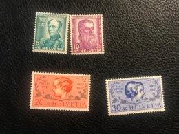 Schweiz Pro Juventute 1937 Zumstein-Nr. 81-84 * Ungebraucht Mit Falz - Pro Juventute