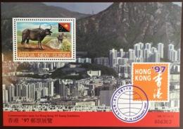 Papua New Guinea 1997 Hong Kong Cattle Minisheet MNH - Farm