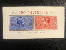 Schweiz Pro Juventute 1937 Block Zumstein-Nr. 83I+84I ** Postfrisch - Pro Juventute