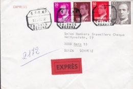 Spain EXPRÉS Label ALBERTO LAVINA VALMANA, CALONGE Girona 1992 Cover Letra BERN (Arr.) Schweiz 4-Colour Franking - 1931-Heute: 2. Rep. - ... Juan Carlos I
