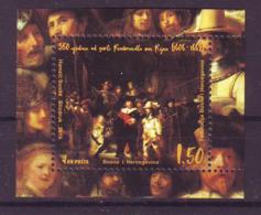 Bosnia BiH 2019 500 Y. Rembrandt Bl. MNH - Bosnië En Herzegovina