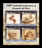 Maldives 2019 Mih. 8671/74 Leonardo Da Vinci MNH ** - Maldives (1965-...)