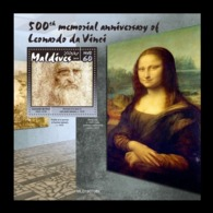 Maldives 2019 Mih. 8675 (Bl.1396) Leonardo Da Vinci MNH ** - Maldives (1965-...)