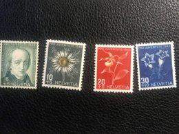 Schweiz Pro Juventute 1943 Zumstein-Nr. 105-108 * Ungebraucht Mit Falz - Pro Juventute