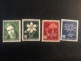 Schweiz Pro Juventute 1946 Zumstein-Nr. 117-120 * Ungebraucht Mit Falz - Pro Juventute