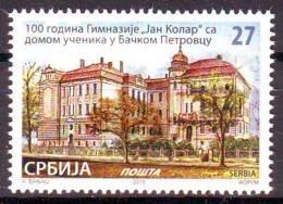 Serbia 2019 100 Y. Gymnasium Backi Petrovac MNH - Serbien