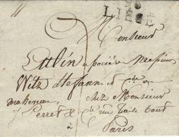 1811- Lettre De 96 / LIEGE ( L'Ourthe ) 28 Mm Noir Pour Paris Taxe 7 D. - 1794-1814 (French Period)