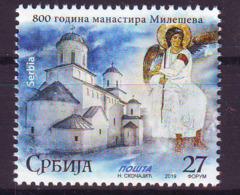 Serbia 2019 800 Y. Monastery MILESEV MNH - Serbien