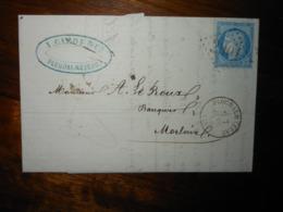 Lettre GC 2901 Ploudalmezeau Finistere Avec Correspondance - 1849-1876: Période Classique