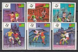 Football / Soccer / Fussball - WM 1990:  Togo  6 W **, Imperf. - World Cup