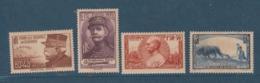 FRANCE 1940 N° 454 à 457 ** MNH A DIX POUR CENT - France