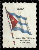 Old  Dutch Poster Stamp Cinderella Vignette Erinoffilo Reklamemarke Flag Flagge Cuba. - Flaggen
